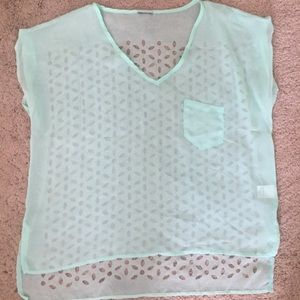 Mint colored tee
